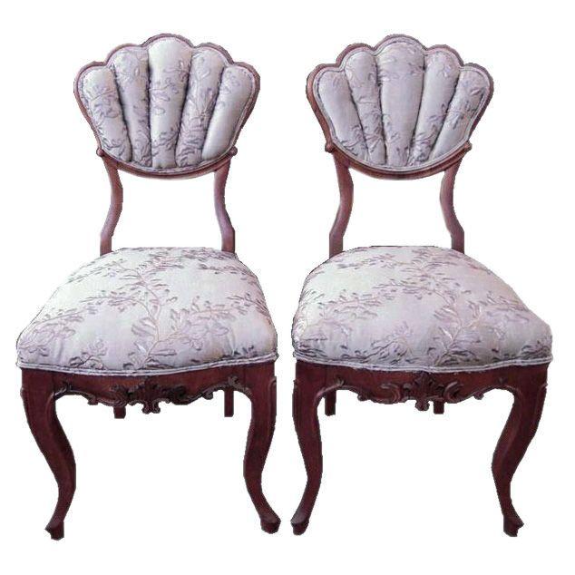 Austin Antique Furniture Texas French European Antiques - 1820s Rare Pair  of Biedermeier Chairs - Austin Antique Furniture Texas French European Antiques - 1820s