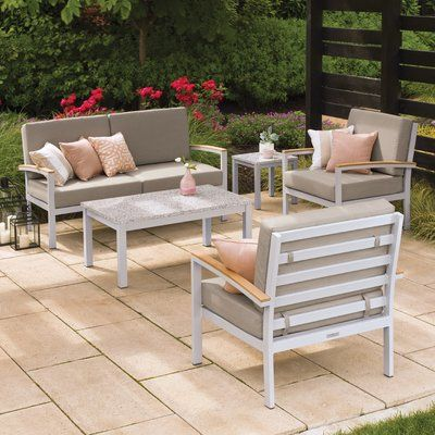 Sol 72 Outdoor Caspian 5 Piece Sofa Seating Group With Cushions