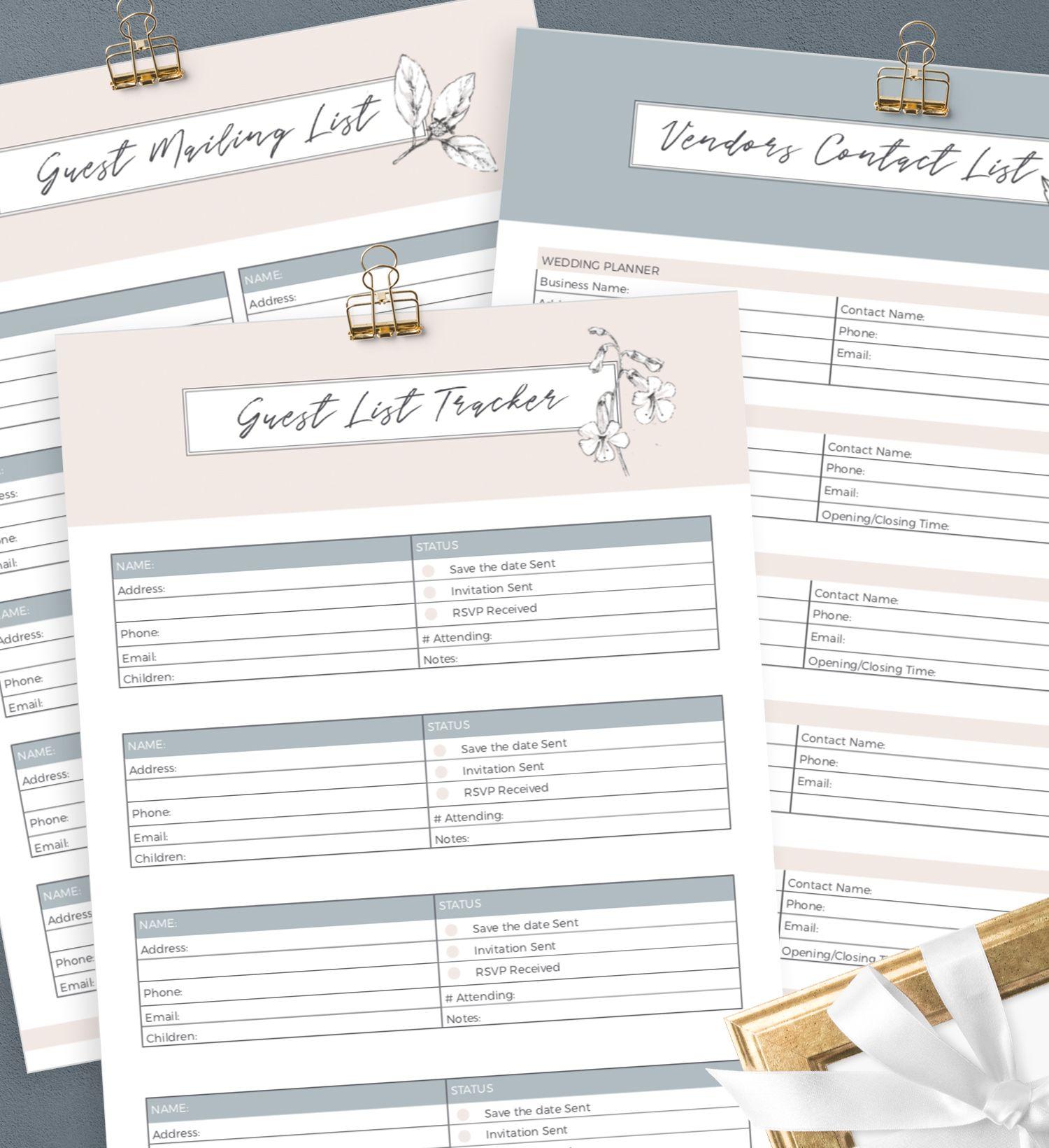 Free Printable Wedding Planner By Creativethings Studio Free Wedding Planner Printables Free Wedding Printables Wedding Planner Printables
