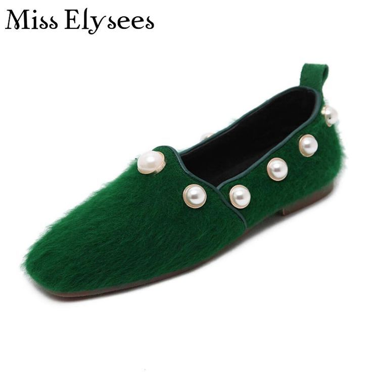 Tendance Chaussures 2017/ 2018 : Square Toe Women Shoes Flats Woman Loafers  Slip on Fashion