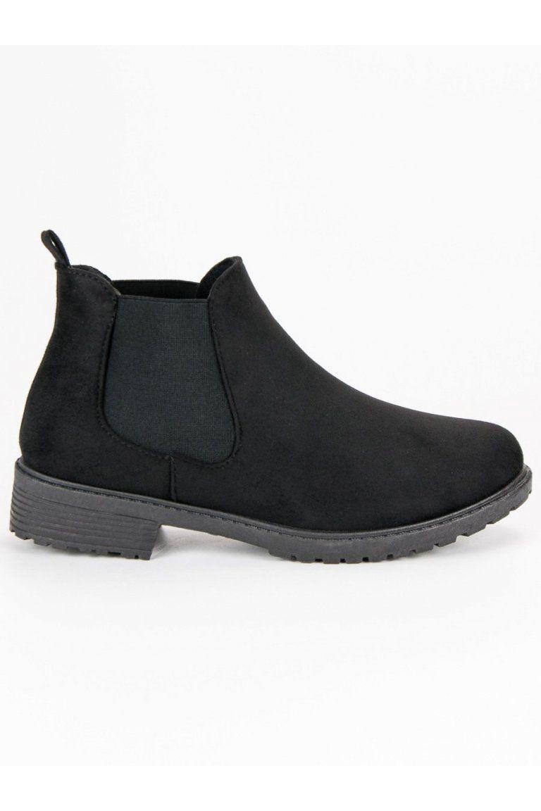 3e4b35376cd4 Nízke čierne členkové topánky pérka CnB