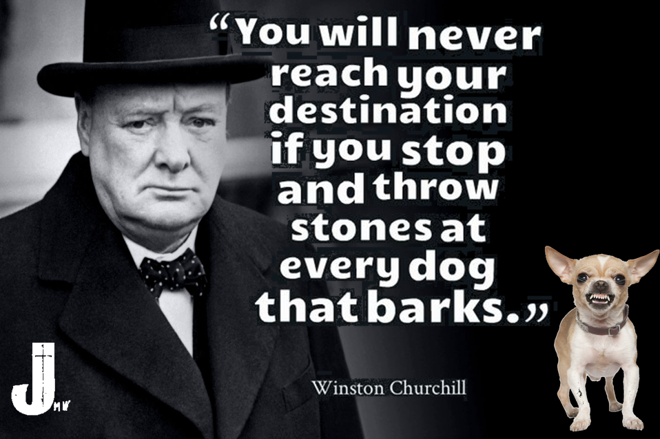ผลการค้นหารูปภาพสำหรับ winston churchill quotes dog bark