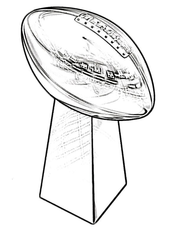 trophy super bowl coloring page - Super Bowl Trophy Coloring Pages