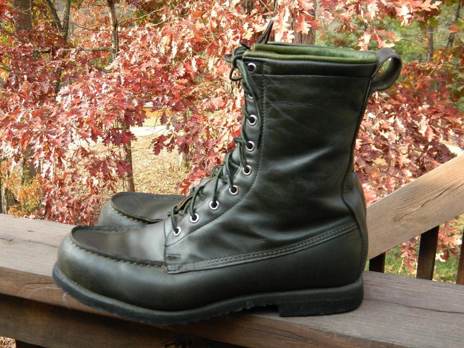 RED WING Irish Setter Rare VTG Green Moc Toe Work Hunting Sport Boots- Men's 12 https://t.co/xEjzmJXksq https://t.co/ceIv6mcN16