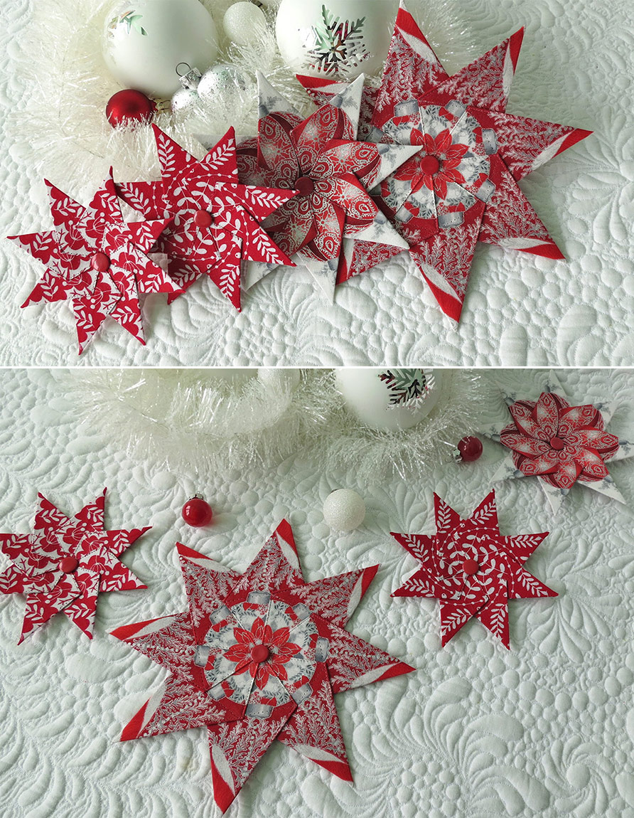 Christmas Quilt Patterns Fabric Christmas Ornaments Quilted Christmas Ornaments Christmas Sewing