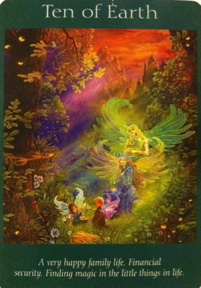 Angel Tarot Card of the Day - Ten of Earth