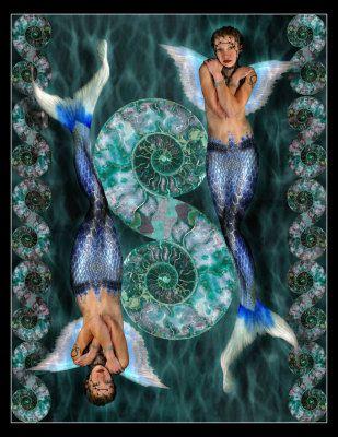 Pisces Mermaid Art