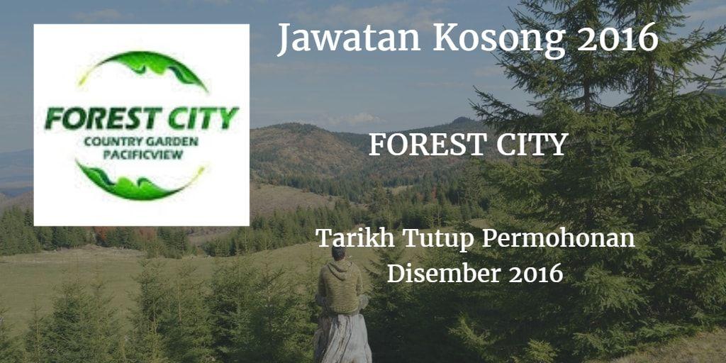 Jawatan Kosong FOREST CITY Disember 2016 Preventive