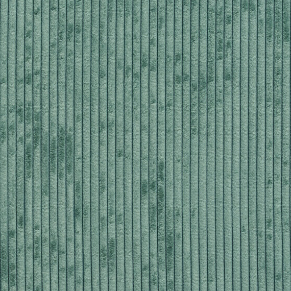 Teal Corduroy Striped Soft Velvet Upholstery Fabric By The Etsy