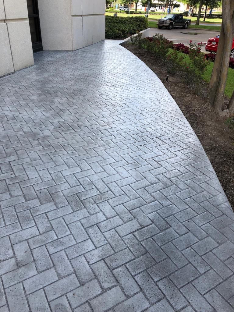 Pathway Stamped Concrete Patio Patio Pavers Design Stamped Concrete Driveway
