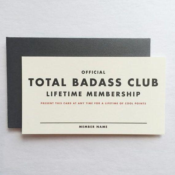 Official Lifetime Membership Card Total Badass By Shopredarrow