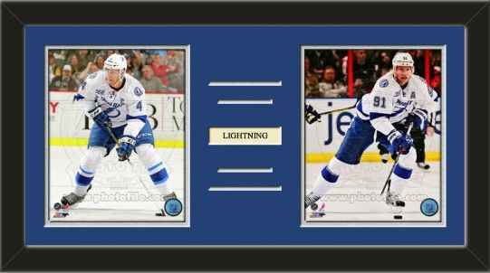 Two framed 8 x 10 inch T&a Bay Lightning photos of Vincent Lecavalierwith a customizable nameplate & Two framed 8 x 10 inch Tampa Bay Lightning photos of Vincent ... azcodes.com