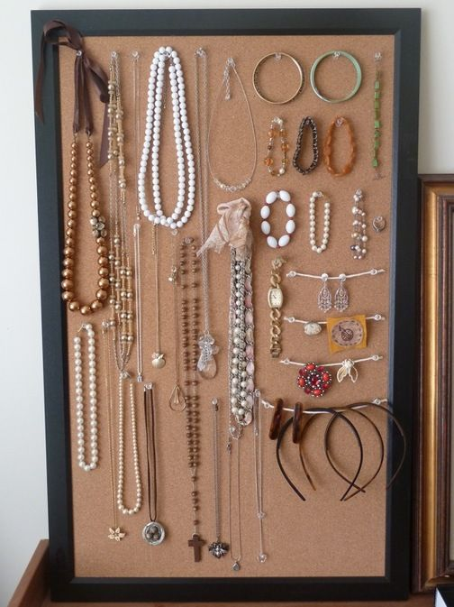 How To Cork Board Jewelry Display Cork Board Jewelry Diy
