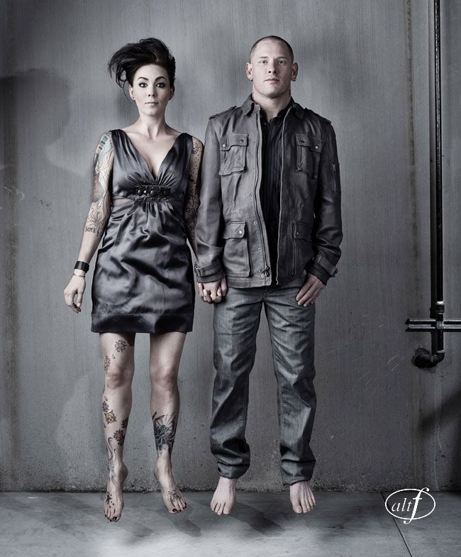 Corey Taylor and his wife , Stephanie Luby Taylor.