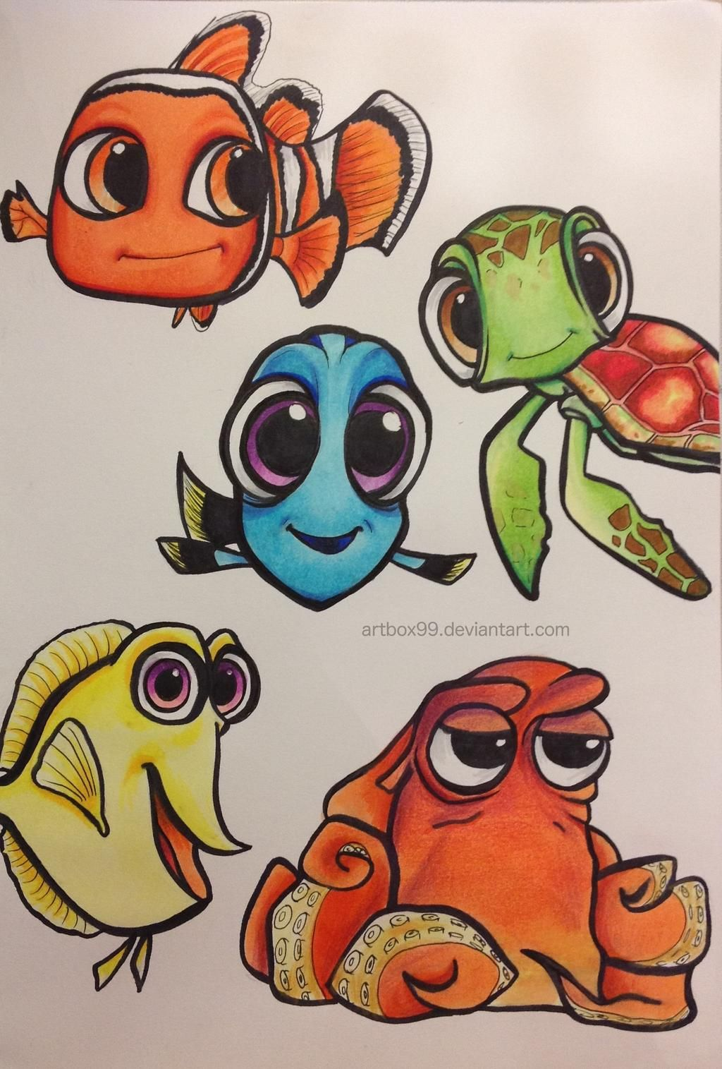 Chibi Finding Nemo/Dory Characters by artbox99 on DeviantArt