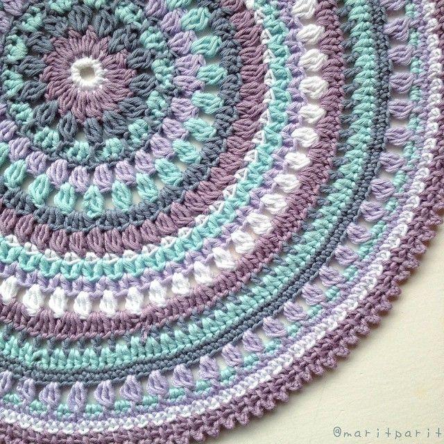 The Viola mandala! #crochetmandalapattern