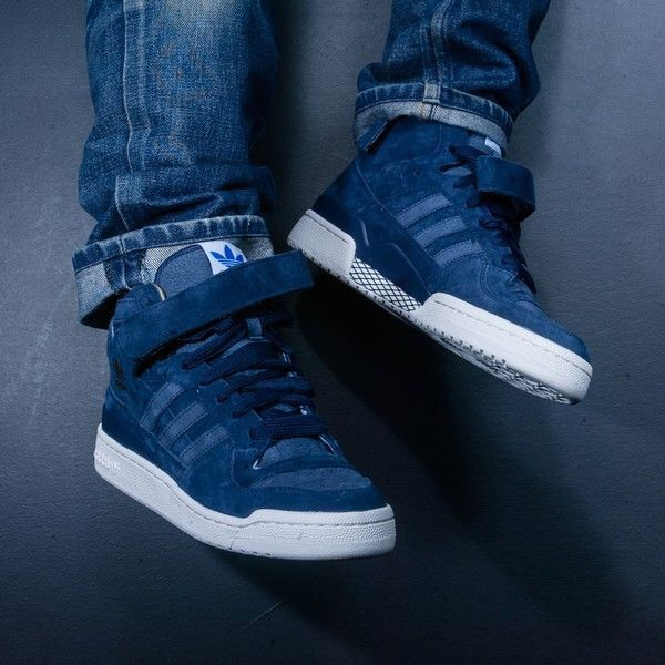 new styles 8f42e 15c8d adidas Originals Forum Mid Denim