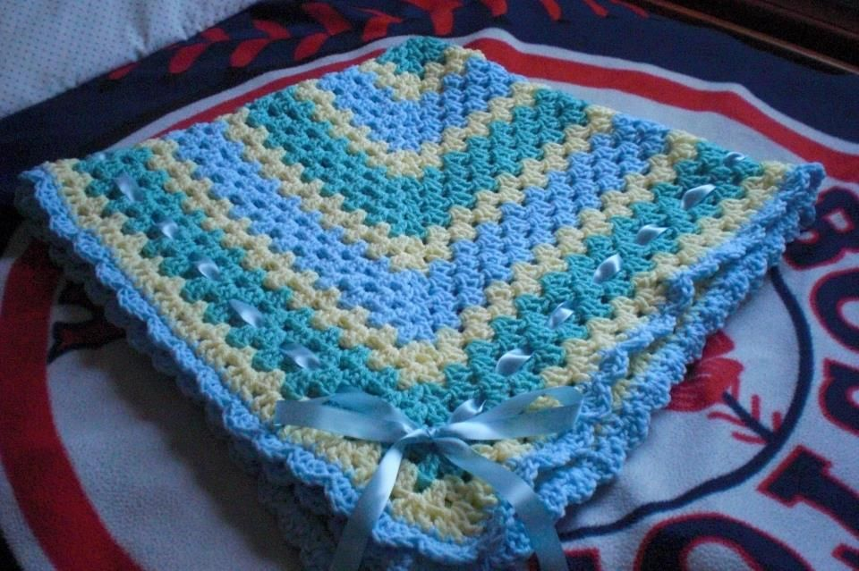 love the colors in this granny blanket