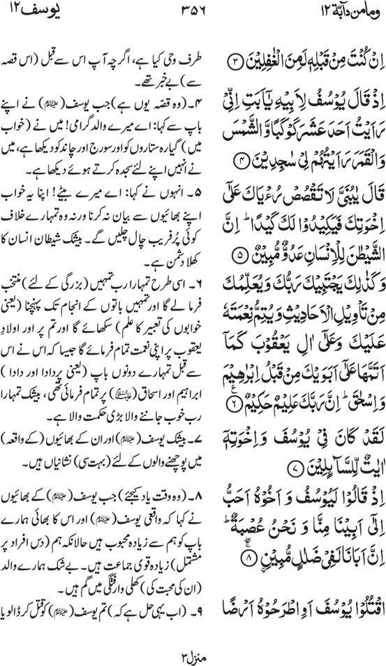 Irfan ul Quran Part #: 12 (Wama min dabbatin) Page 356 | Quran Part