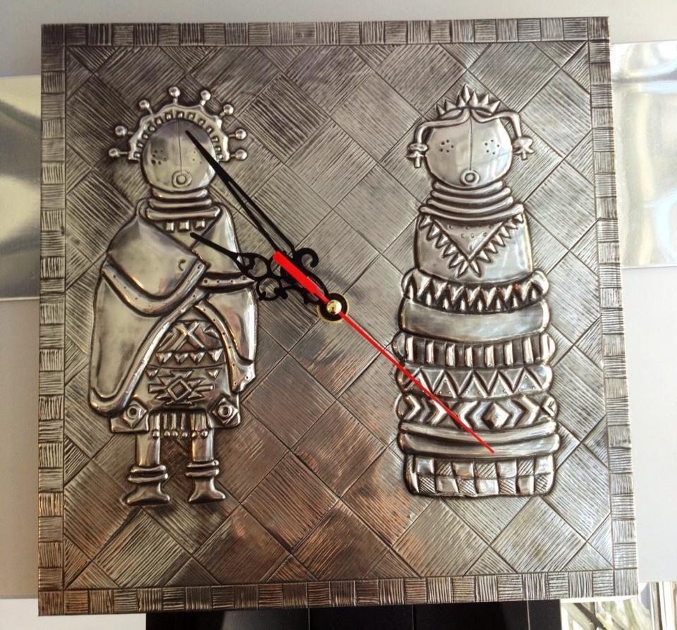 clock, african dolls, facebook.com/ThePewterRoom