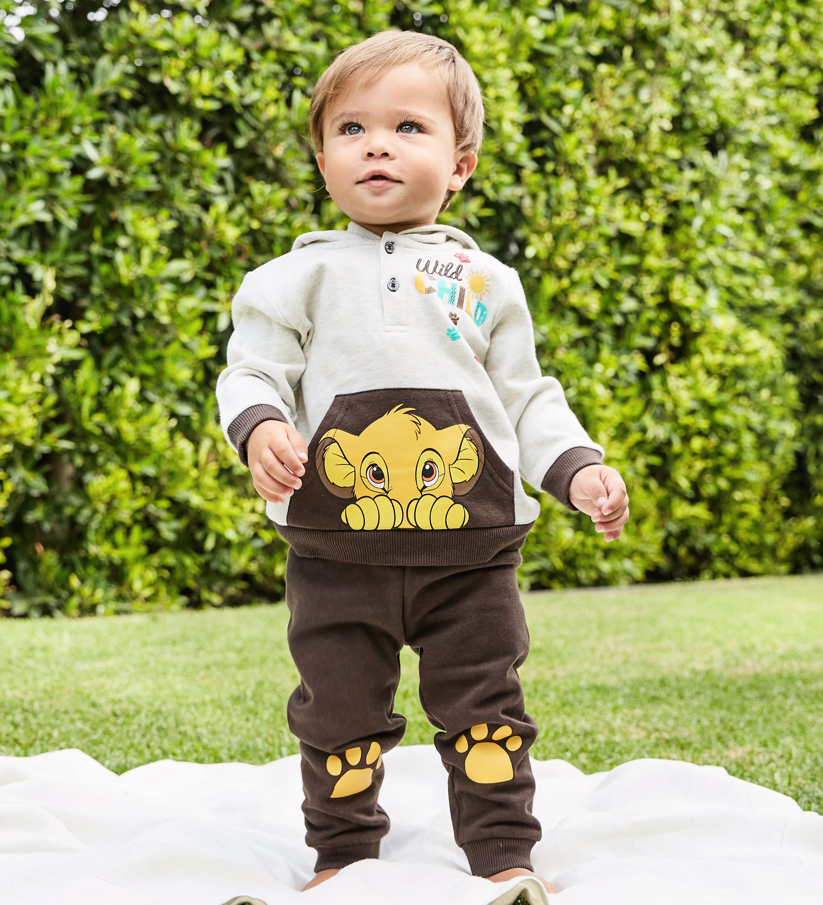 The Lion King Newborn Baby Boy Hoodie and Pants 2-Piece Outfit Set. Keep