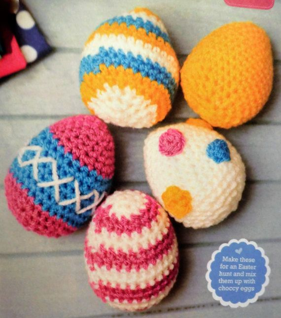 Bright patterned Easter egg PDF crochet pattern | easter by ...
