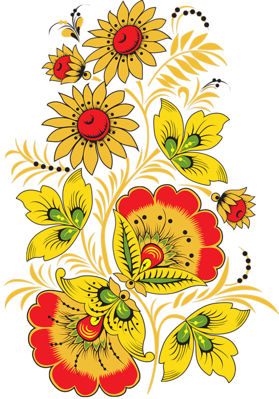 Русский орнамент картинки цветы