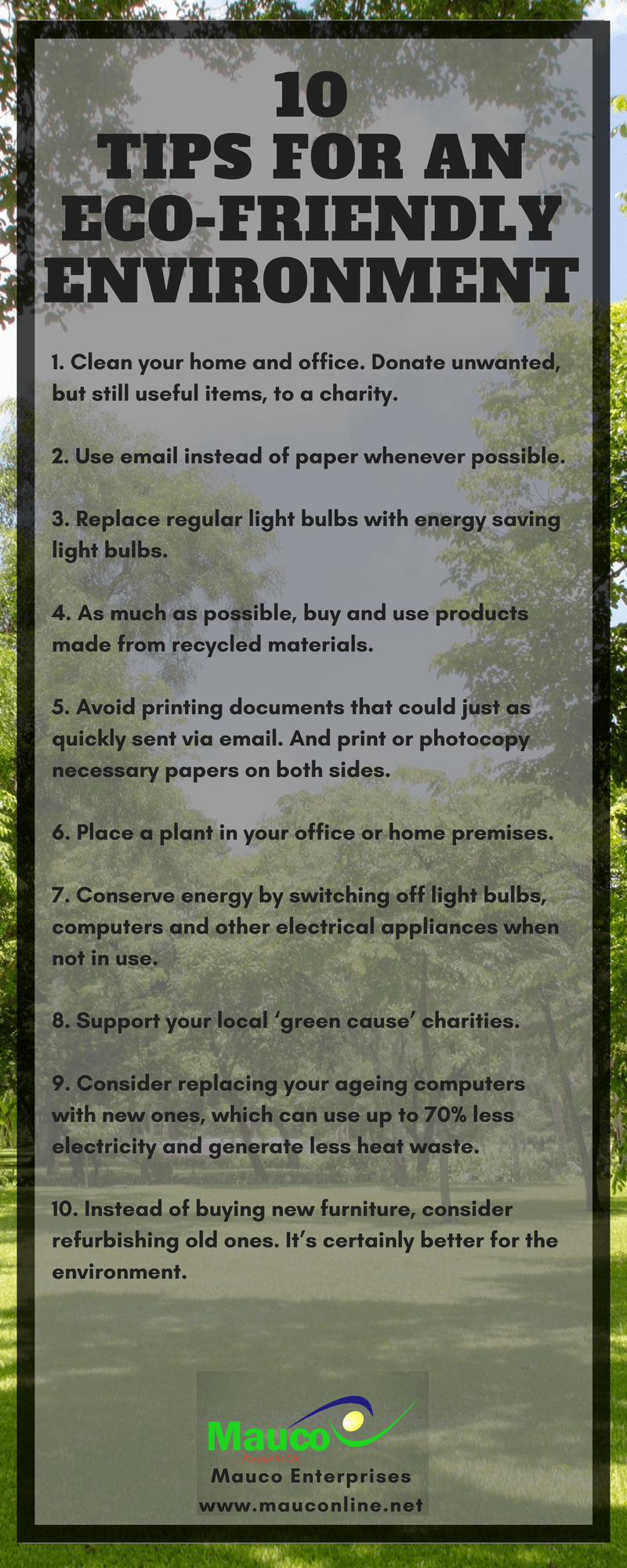 2c63f65fb 10 Tips For An Eco-Friendly Environment