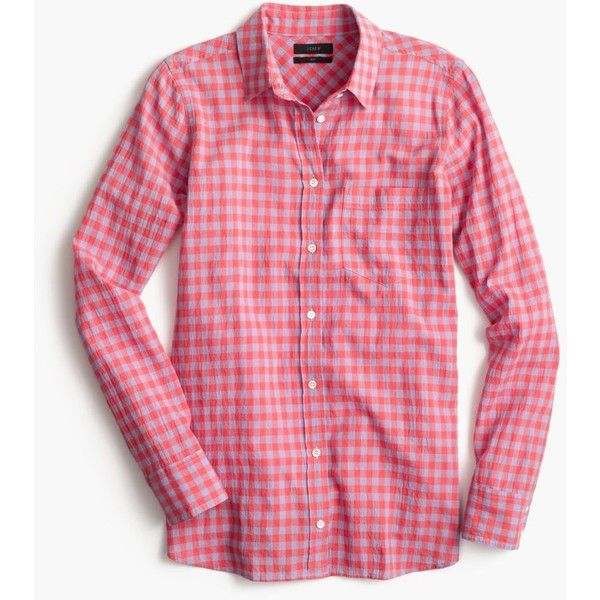 J.Crew Boy Shirt ($66) ❤ liked on Polyvore featuring tops