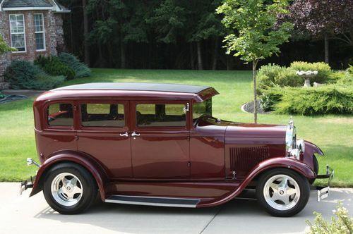 1931 FORD MODEL A TOWN SEDAN STEEL BODY WAGON CUSTOM SHOW CAR HOT RAT STREET ROD…