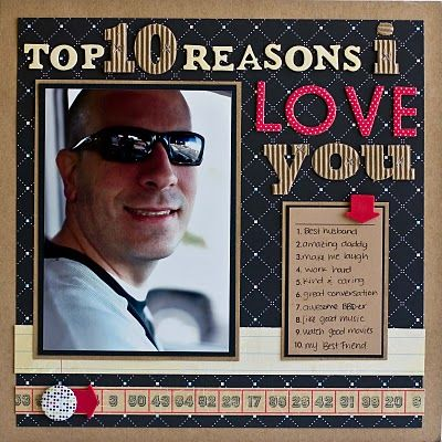 Top 10 Reasons I Love You Cute Scrapbooked Frame You Can Make For