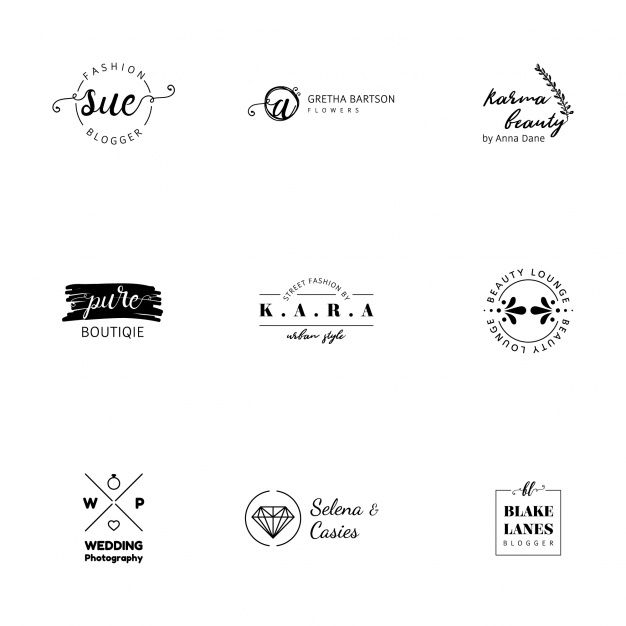 Minimalist Logo Templates Collection Free Vector Logo