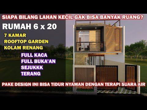 inspirasi desain rumah 6x20 tropis minimalis, kolam renang