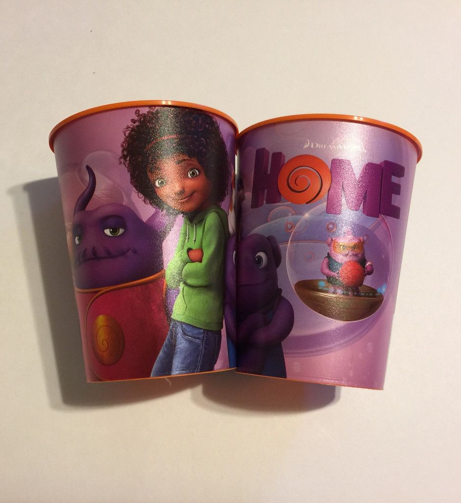 Dreamworks Home Set of 2 Plastic Reusable 16oz Cups Gifts for the