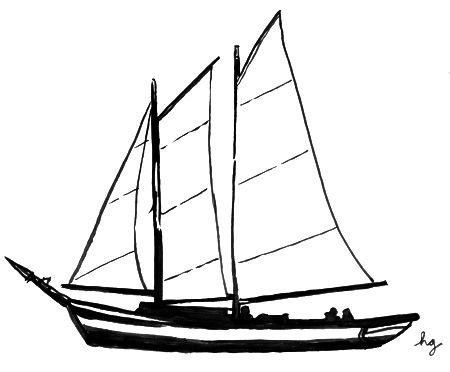 Simple Sailboat Drawing Clipart Panda