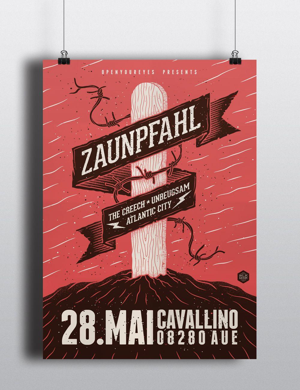 Zaunpfahl Concert Poster On Behance Empanada Pinterest Poster