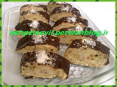 دسر بیسکویتی رولت بیسکویتی آشپزی سئویل Food Desserts Brownie