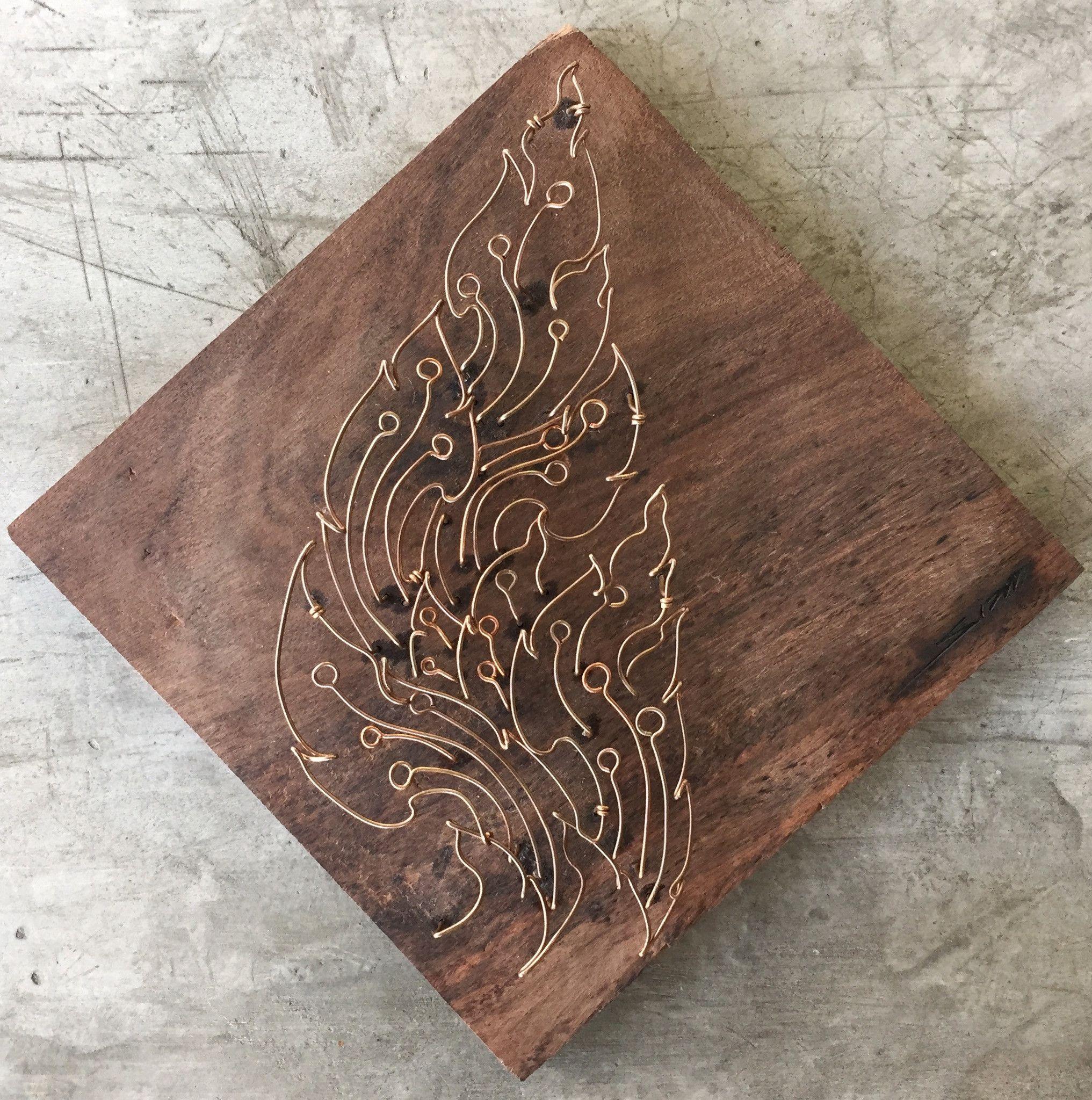 ww0002: Thai Kanok Pattern Copper Wire Art Sculpture | Copper wire ...