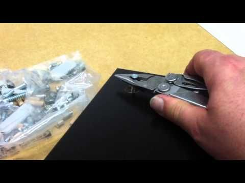 How to remove a stuck turn lock fastener from Ikea furniture - YouTube