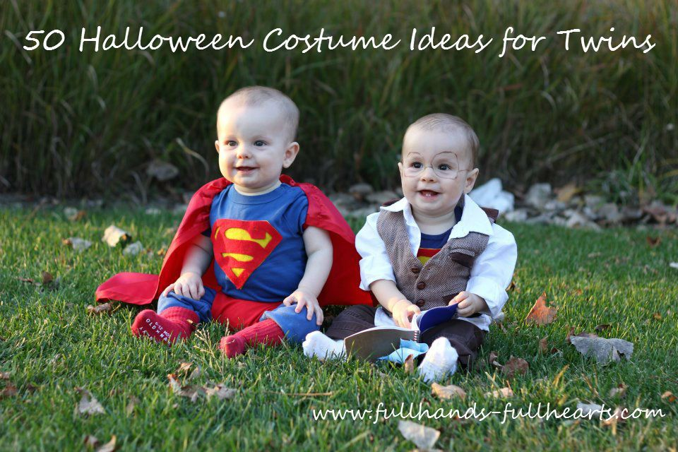 50 Halloween Costume Ideas for Twins (and Siblings in General) from Full Hands Full  sc 1 st  Pinterest & 50 Halloween Costume Ideas for Twins (and Siblings in General) from ...