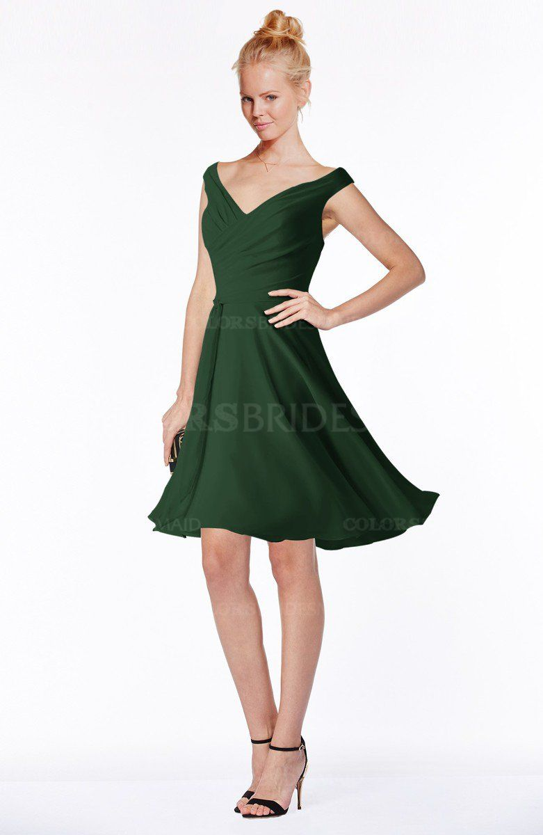 Hunter green classic fit n flare zip up chiffon knee length hot bridesmaid dresses wedding dresses and mens wear for 2017 are on sale all items here are made to order and with a reasonable price ombrellifo Choice Image