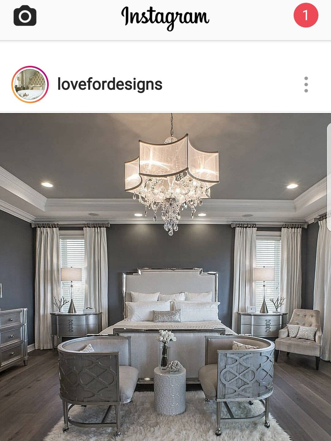 Very Nice Bedroom I Need A Splash Of Color Though Luxury Bedroom Master Luxurious Bedrooms Luxury Master Bedroom Design
