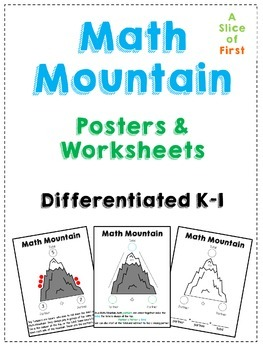 Math Mountain Posters Worksheets Math Expressions Math Kindergarten Vocabulary