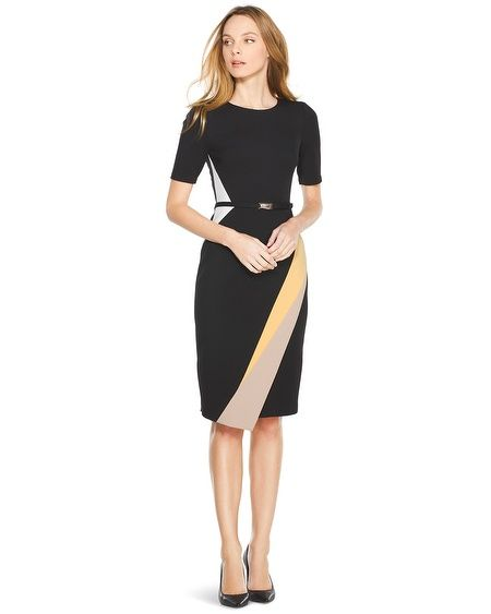White House | Black Market Colorblock Sheath Dress #whbm | Clothes ...