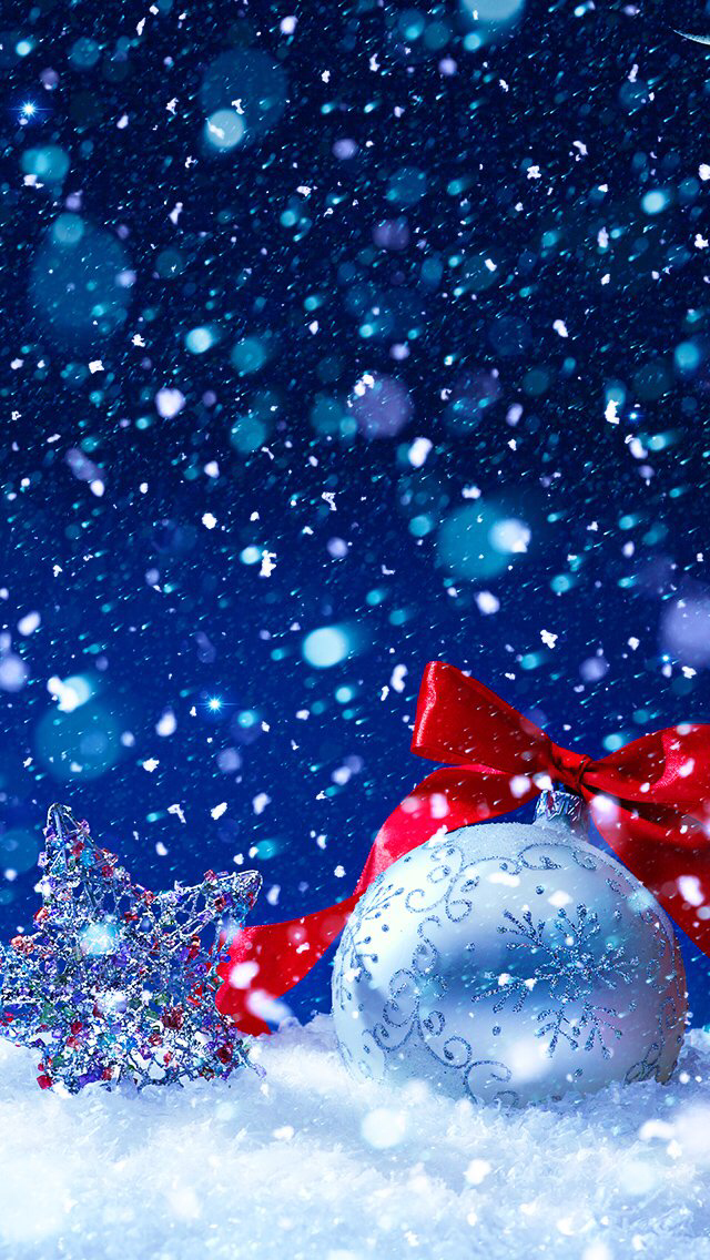 wallpaper iphone winterchristmas themehappy new yearsnowflakes