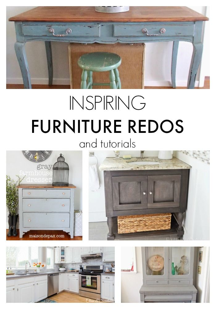 Inspiring Furniture Redos and Tutorials #furnitureredos