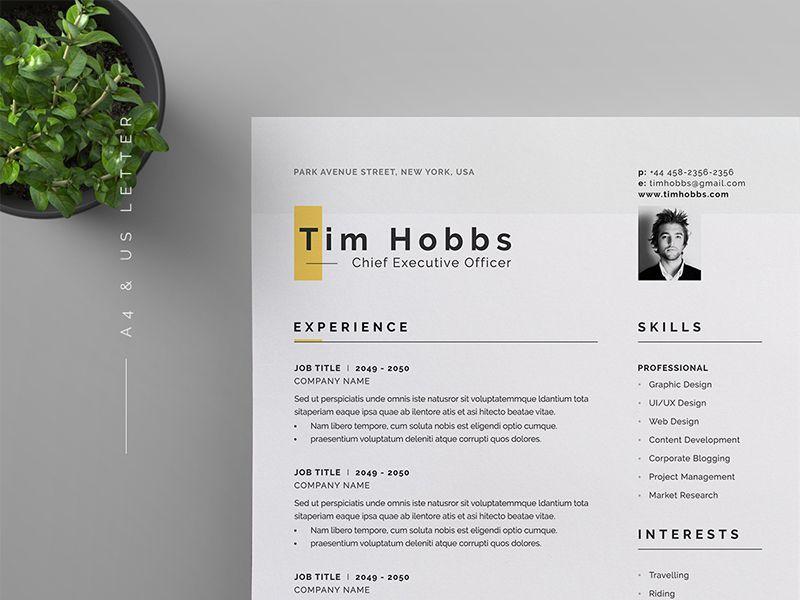 Resume Cv Web Design Graphic Job