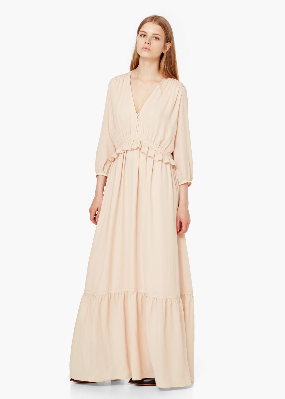Flowy long dress Women Pinterest Dress casual Casual chic and