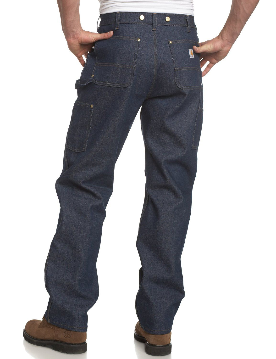 half price hot product new photos Carhartt Men's Utility Double Front Logger Dungaree,Denim,30 ...