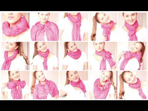 10 Formas De Usar Una Bufanda Infinita 10 Ways To Wear An Infinity Scarl Youtube Circle Scarf How To Wear Women